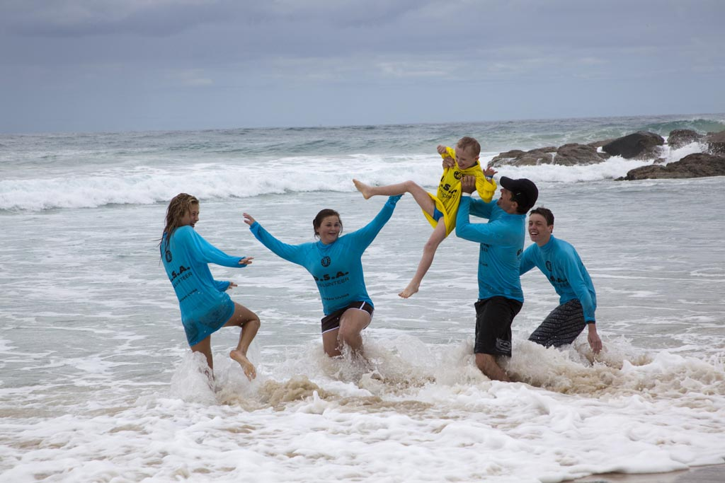 Currumbin beach family of surf lifesavers