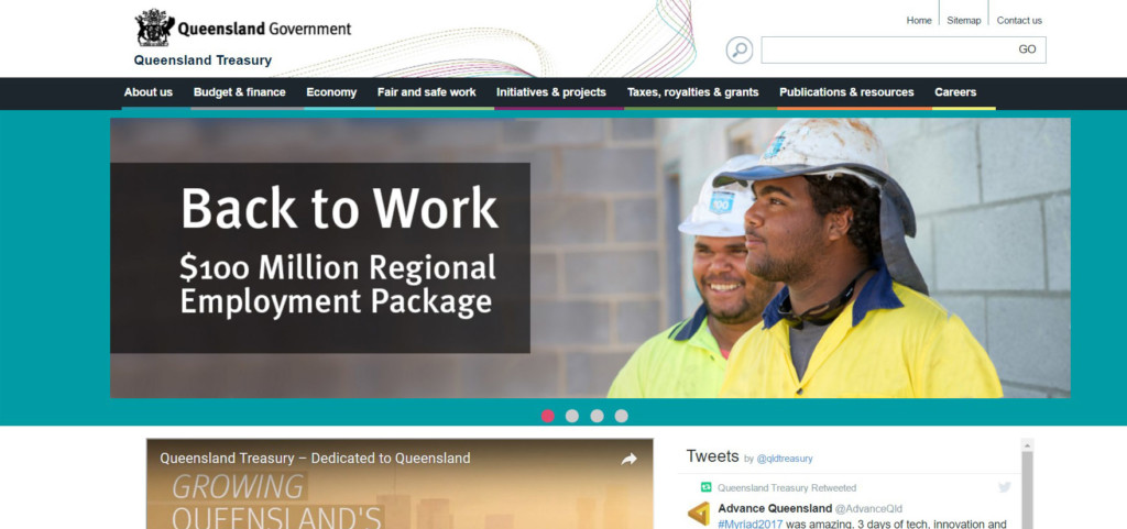 Queensland Government Treasury Home Page