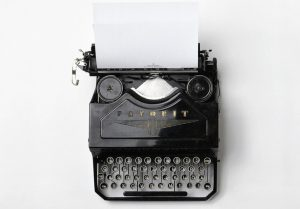 Image of old typewriter with the message: creative ways to create your own Awesome Content