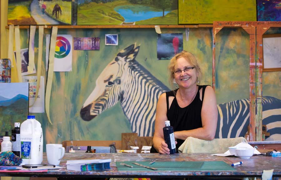 Samfors art trails artist Janina