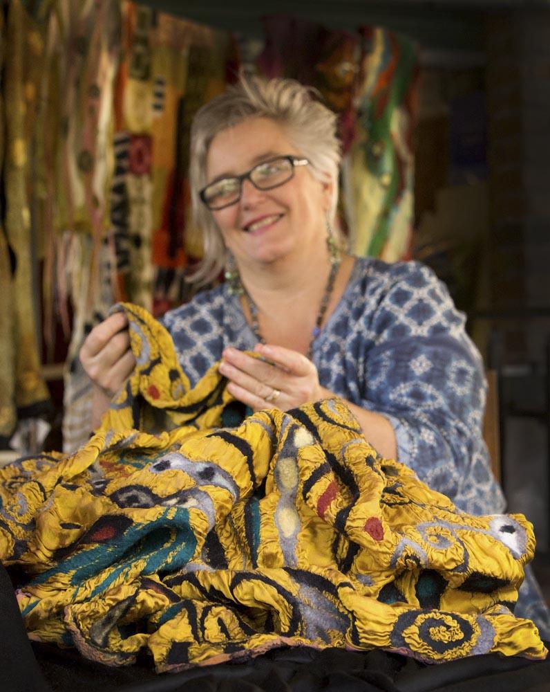 Samford textile felt artist Wendy Bailye