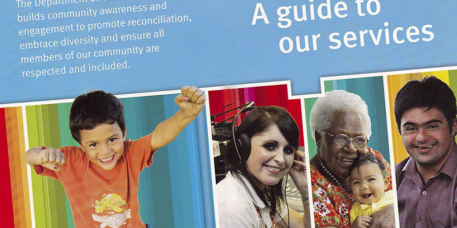 Digital and print images cover for Guide to community services in Qld